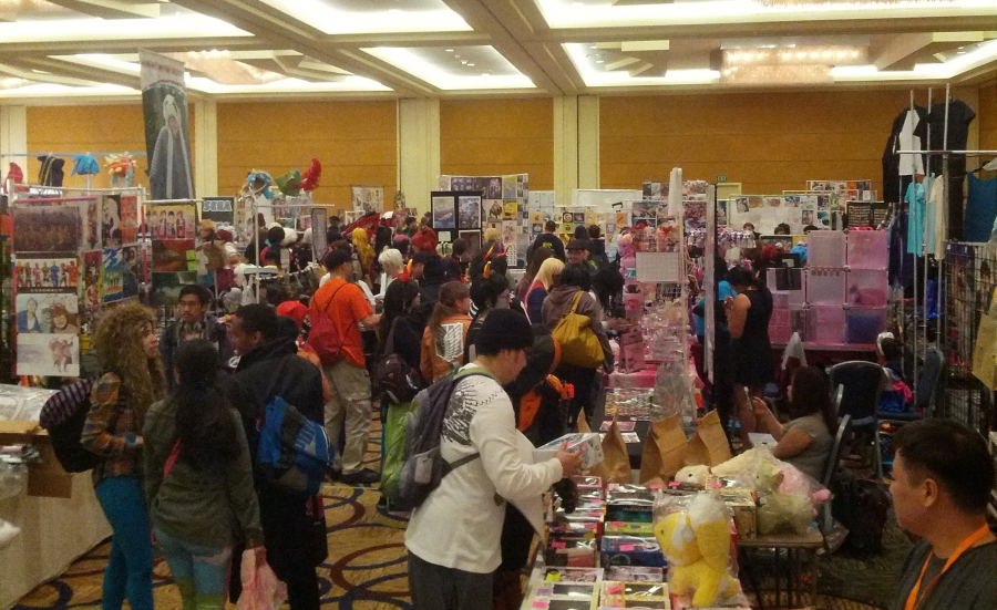 A glimpse of AOD 2014's combined Dealer's Room/Artist's Alley