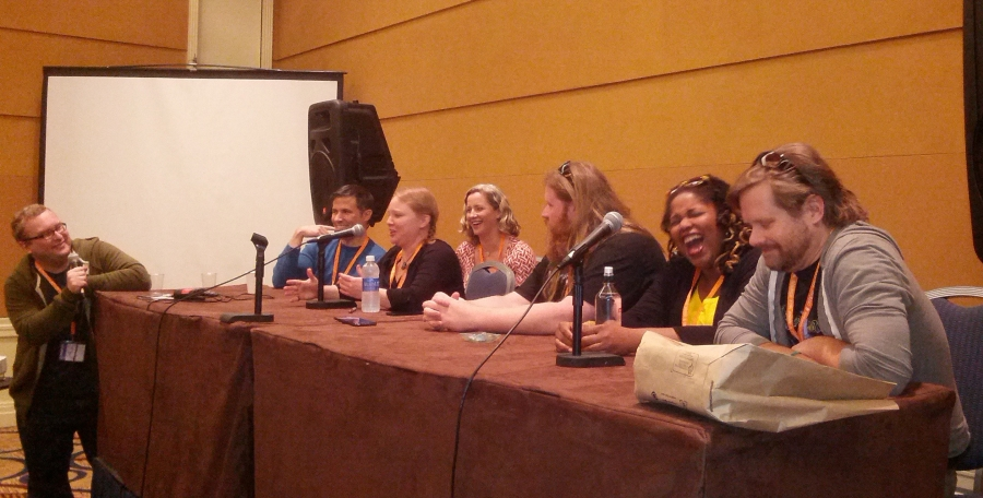 The Walking Dead voice actors share a laugh at their panel