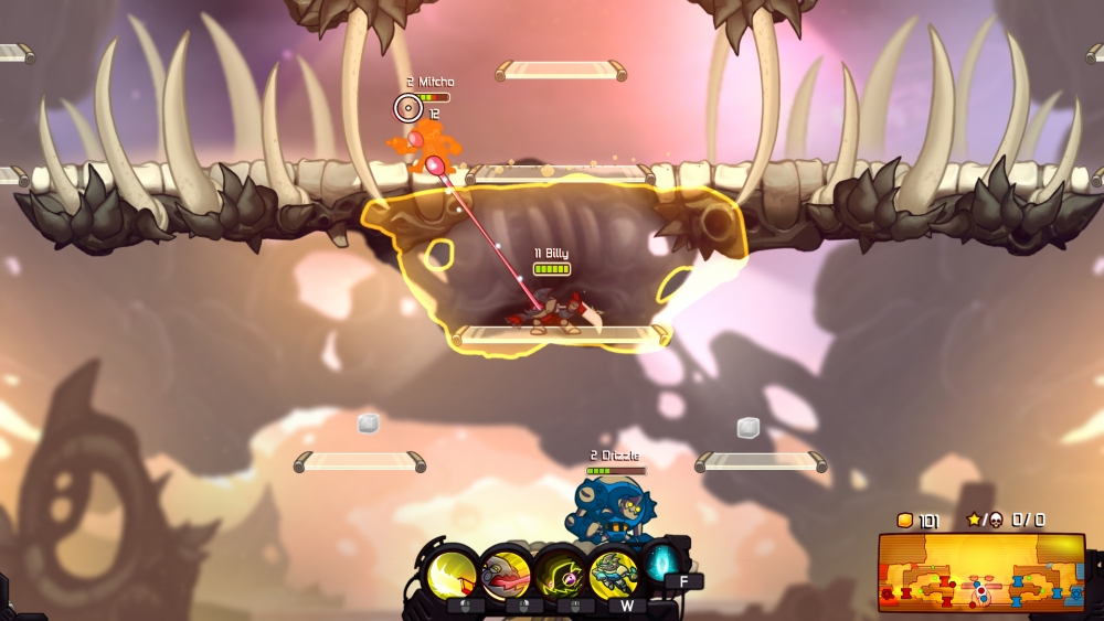 Sneaking up on unwitting enemies is extremely important in AwesomeNauts!