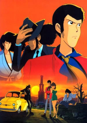 The main cast of the Lupin the Third series