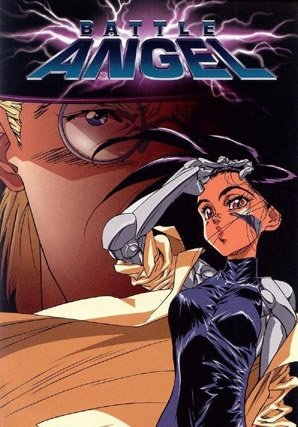 Cover of Battle Angel, featuring Alita in front and Ido in back.