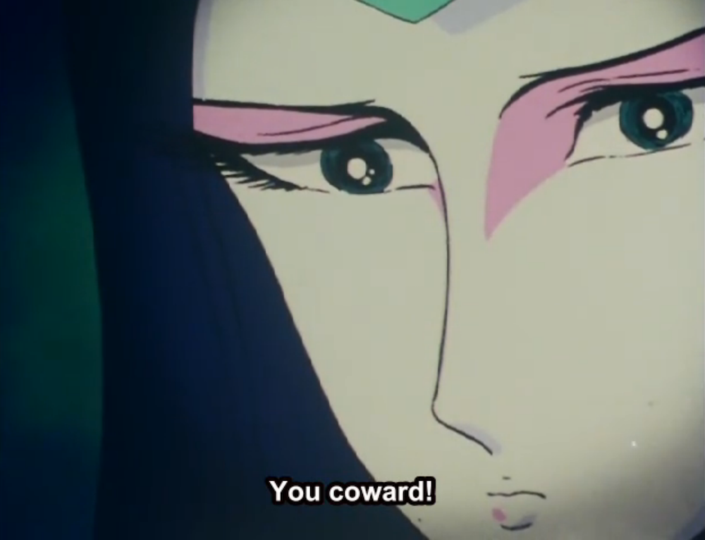 Lafresia thinks over Harlock's words.
