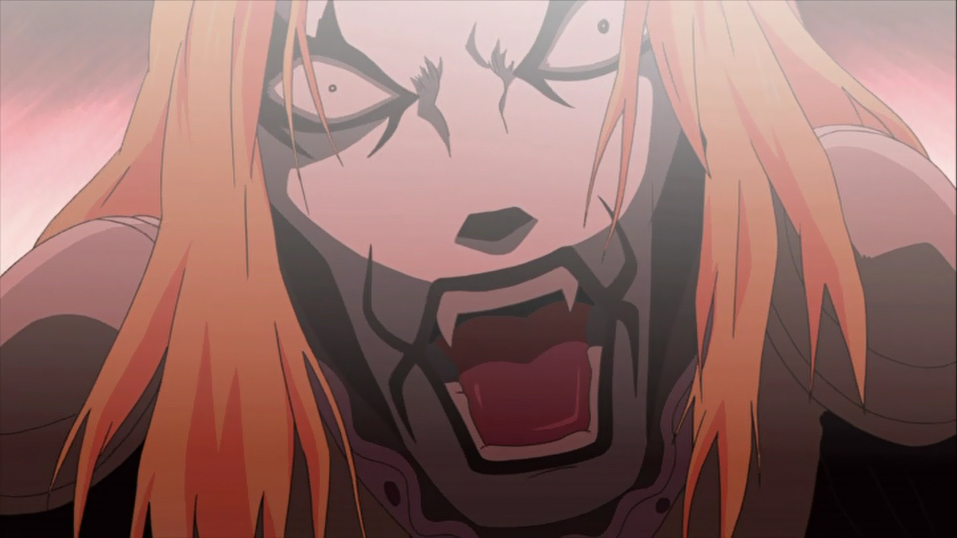 Krauser screaming.