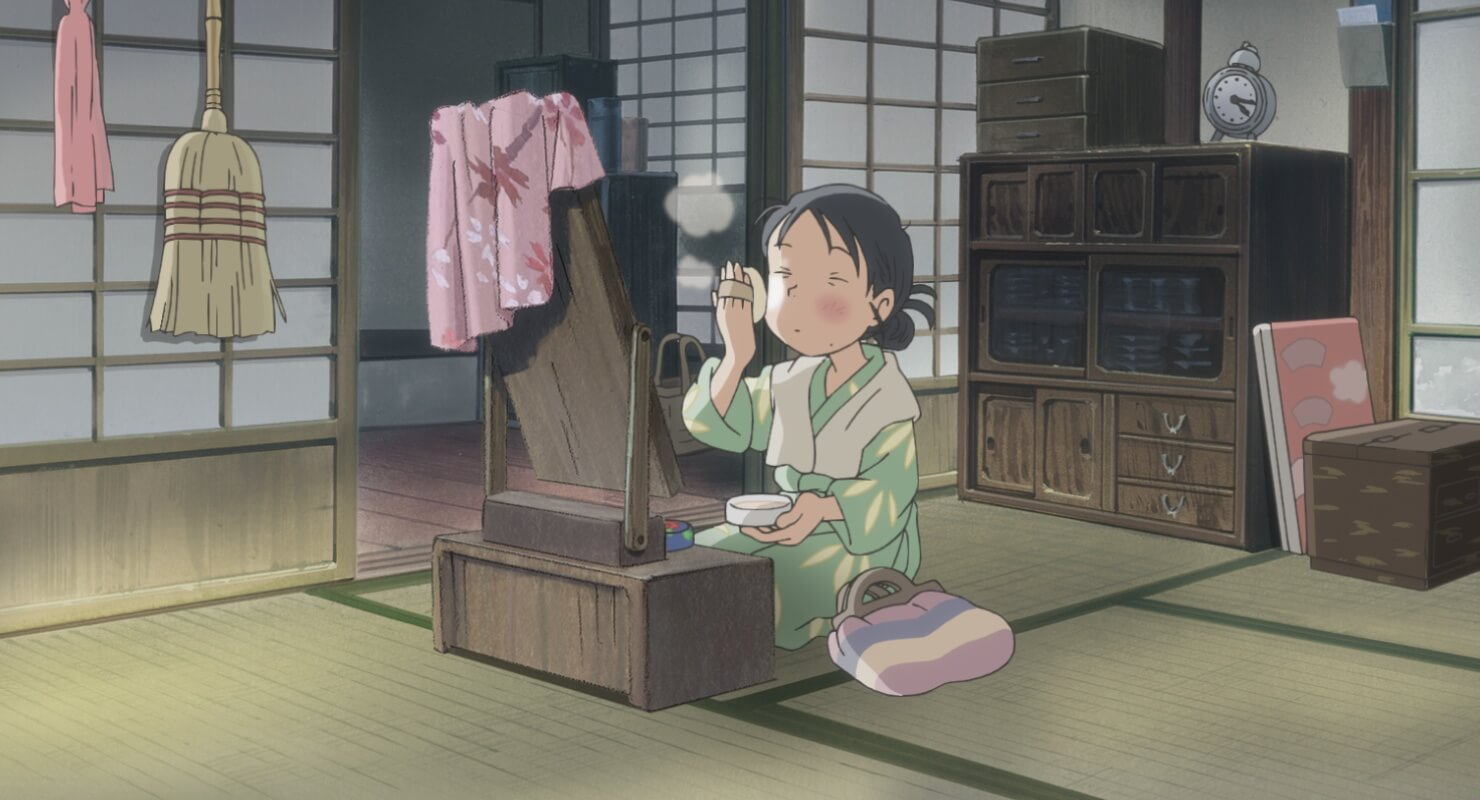 Suzu from In This Corner of the World putting on makeup
