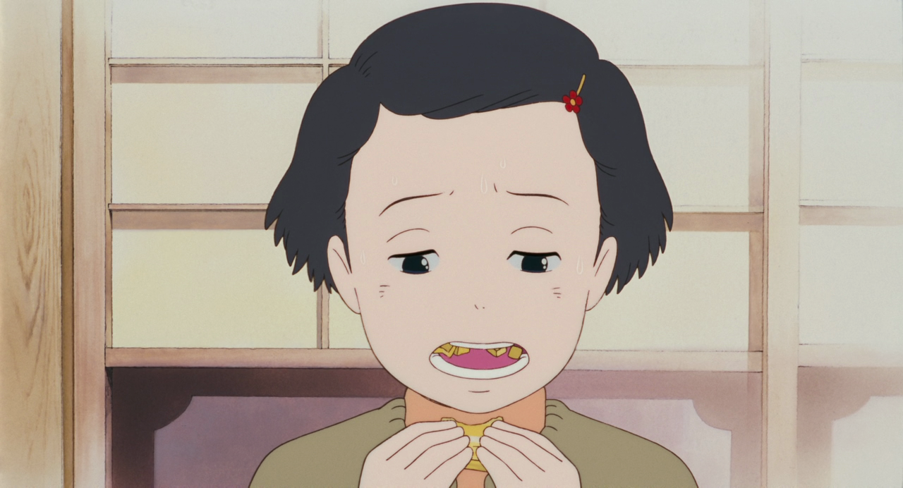 Taeko munches away in disappoinment