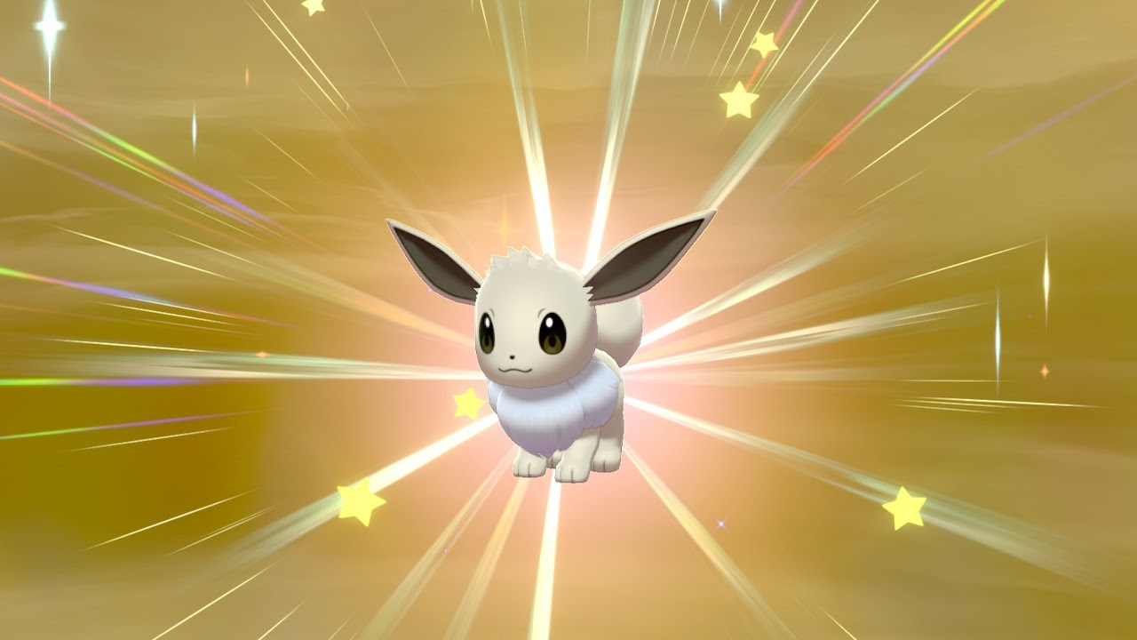 An Eevee about to evolve.