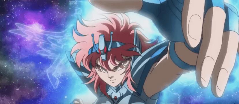 Shoko raising her hand as she transforms.