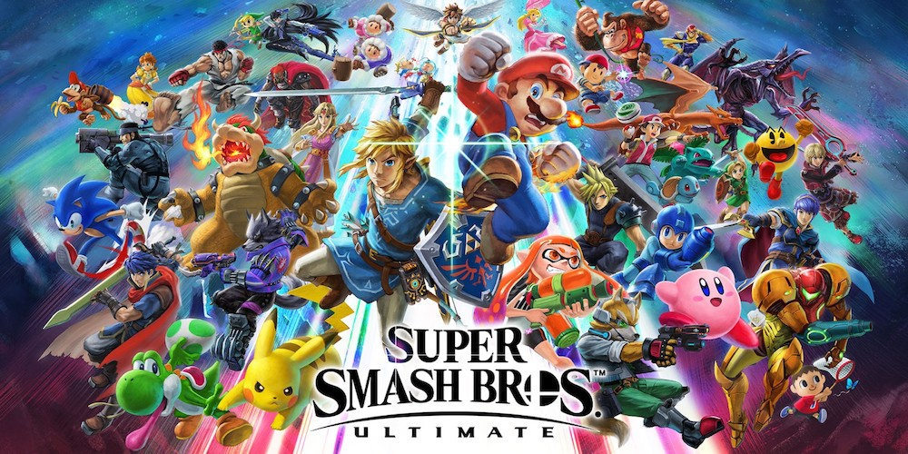 The entire roster of Super Smash Bros. Ultimate.